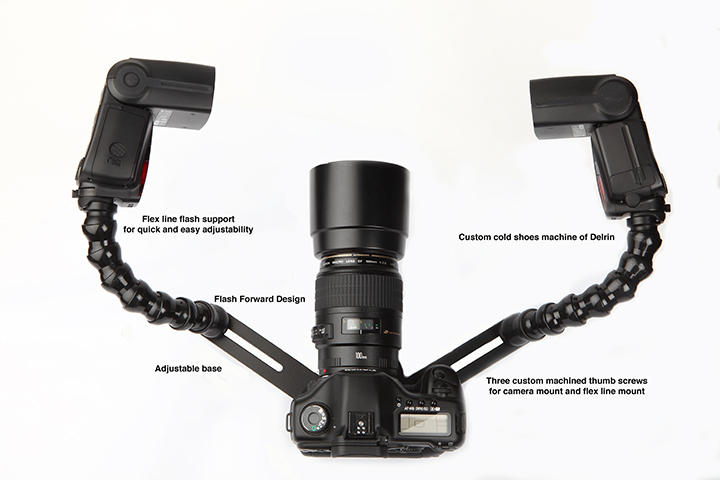 Lucas Macro Bracket (with camera and flashes not included)